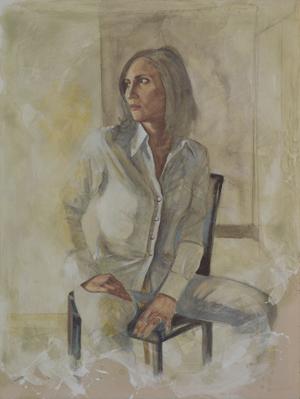Flavia, 2011 - Pastello e olio su tela