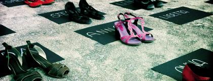 Giornata Internazionale per l'eliminazione della violenza sulle donne (particolare del materiale promozionale)