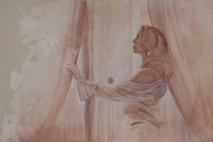 Il velo di Maya (Carla) 2013, olio e pigmenti su tela